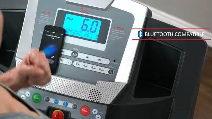 Sunny Health & Fitness SF-T7515 Smart Treadmill monitor