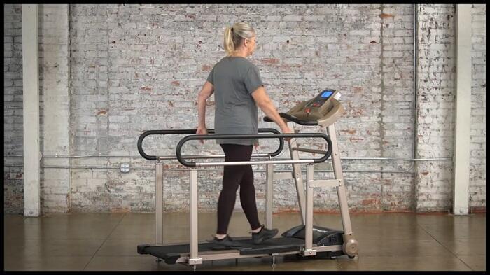 senior walking on exerpeutic TF2000 treadmill