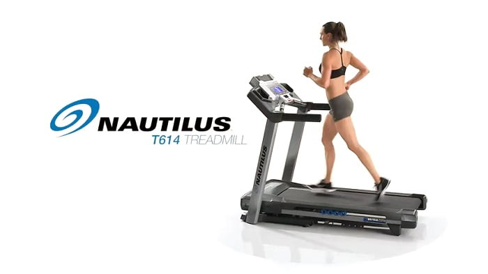 woman jogging on Nautilus T614 Treadmill