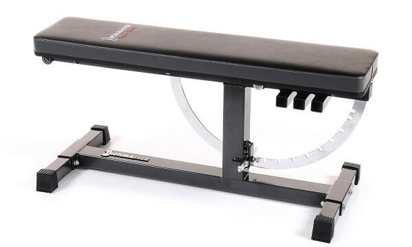Ironmaster adjustable bench in flat position seat removed