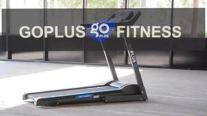 Goplus Folding treadmill with logo overlay