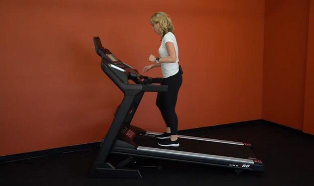 woman walking on sole f80 treadmill