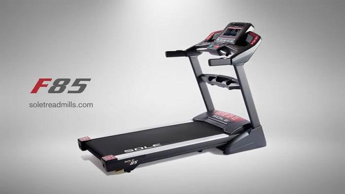 sole f85 treadmill grey background