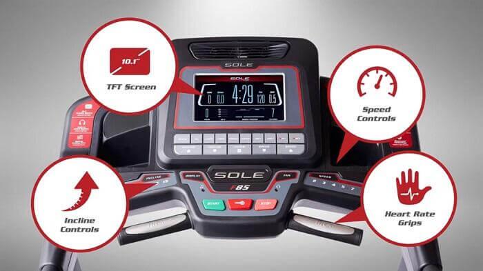 demonstration sole f85 treadmill monitor