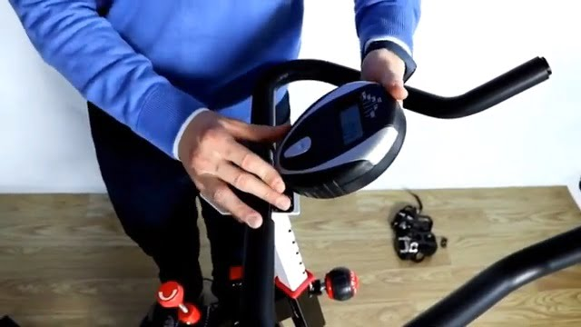 demonstration of relife spin bike monitor