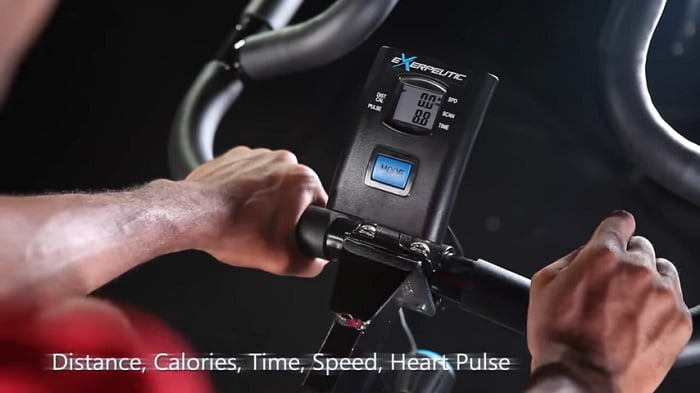 Exerpeutic LX7 Training Cycle monitor and pulse sensors