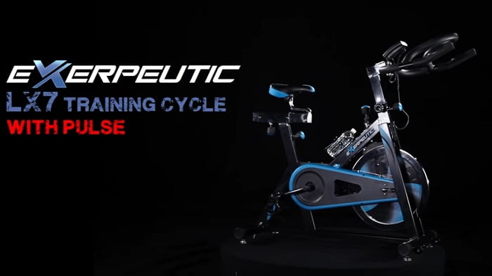 Exerpeutic LX7 Training Cycle in dark room