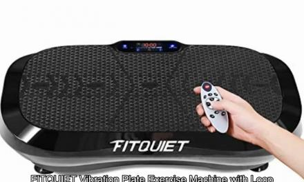 FITQUIET Vibration Platform with Loop Resistance Bands