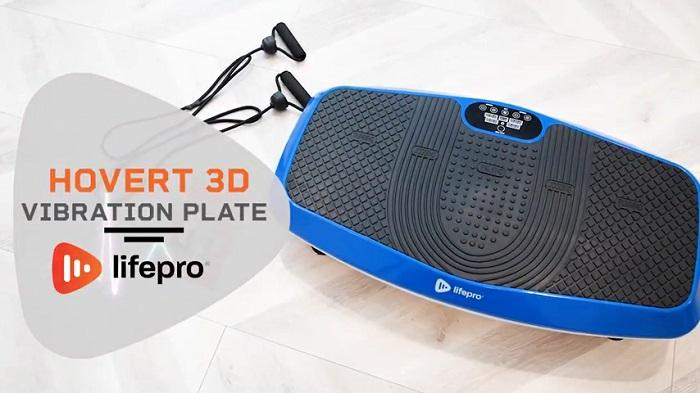 Lifepro hovert vibration plate machine with resistance bands