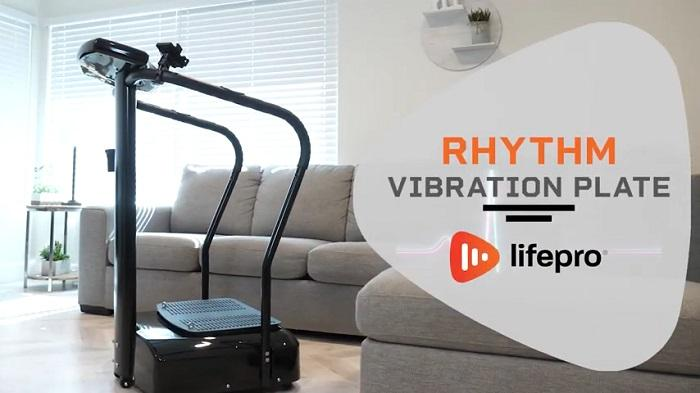 Lifepro Rhythm Vibration Plate in front room of house