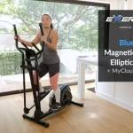 woman exercising in her kitchen on Exerpeutic 4322 elliptical