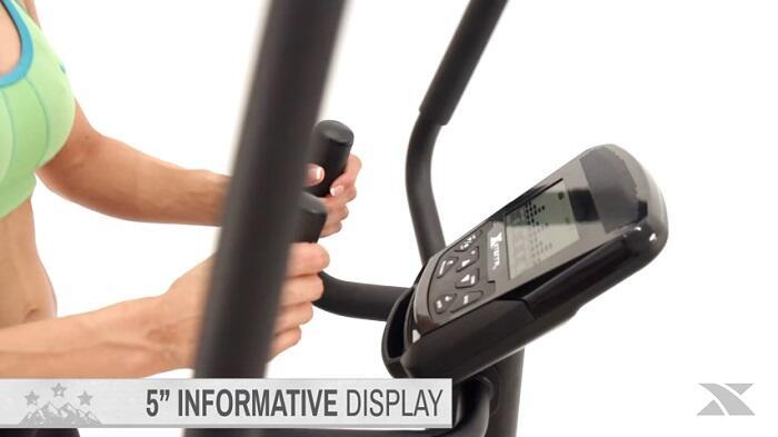 demonstartion of XTERRA Fitness - FS1.5 Elliptical Trainer monitor