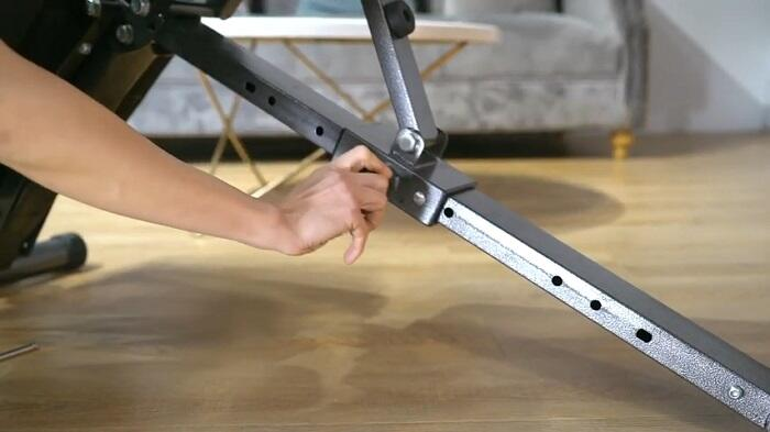 pin pull adjustment system finer form 5-in1 weight bench