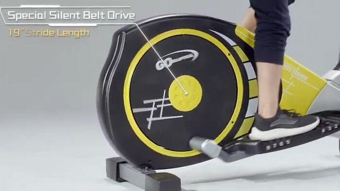 woman exercising on Goelliptical