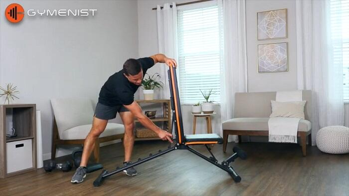 Gymenist Workout Weight Bench demonstration in home gym