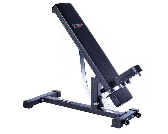 ironmaster super bench in home gym garage