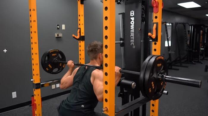 heavy duty power rack in home gym