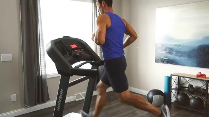 horizon T202 treadmill in home gym